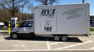Der Prototyp des BV1 auf seiner ersten größeren Ausfahrt auf dem Weg zur iMobility 2018 (Foto: © Jana Höffner).